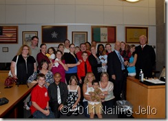 Everyone who came to supports us on adoption day!