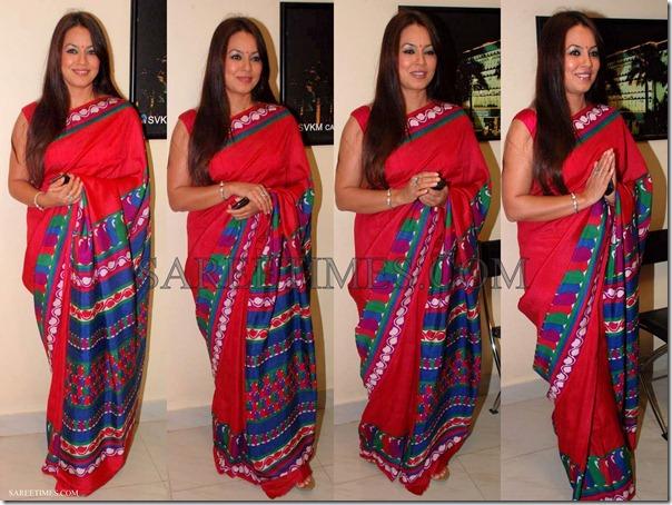 Mahima_Chaudhary_Red_Saree
