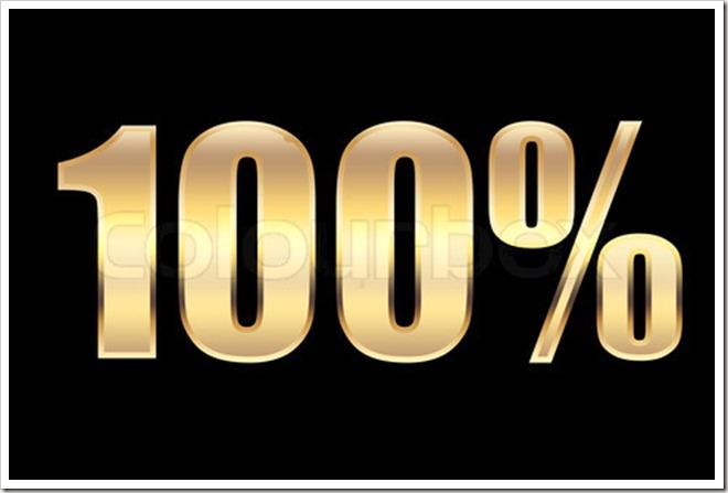 100 percents