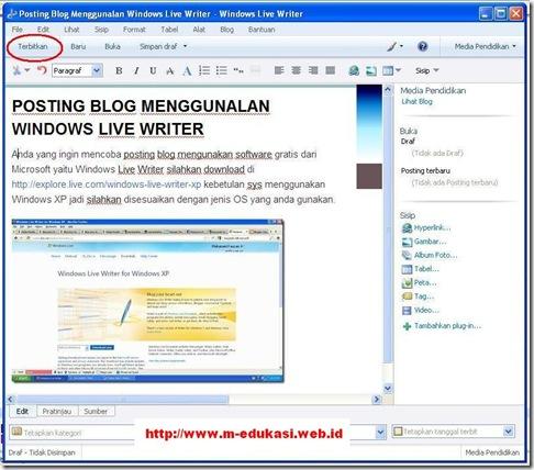 Microsoft Windows Live Writer 8