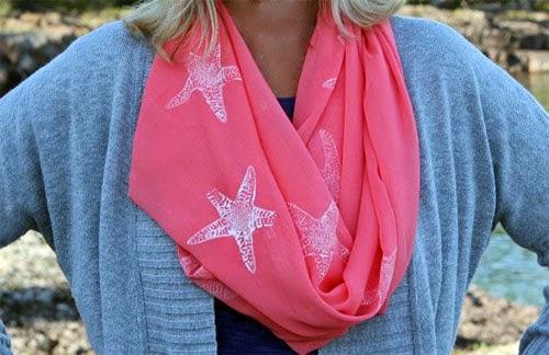 Inspiração: estrela do mar - lenço customizado