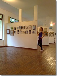 Corina Chirila la expozitia de grafica din pavilionul B din  Herastrau