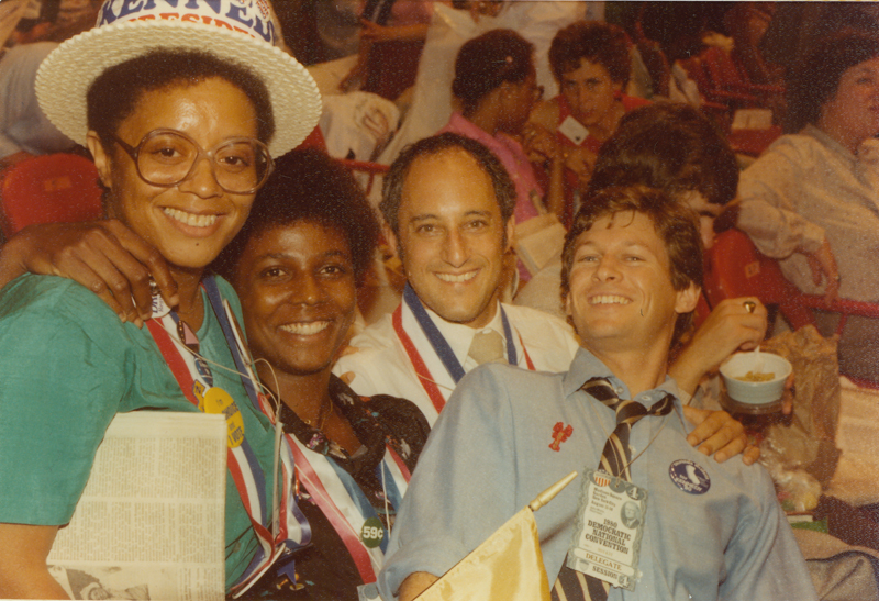 Lesbian & Gay Caucus members at the1980 Democratic National Convention at Madison Square Garden in New York City. August 11- 14, 1980.