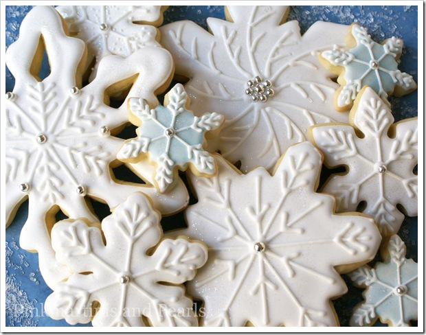 Decorated snowflake cookies Christmas cookies