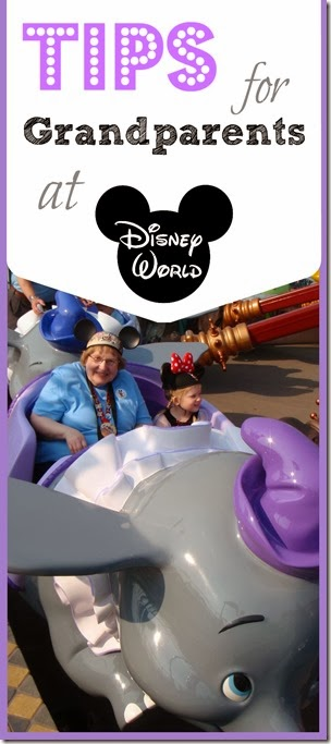 Tips for Grandparents at Disney World - lots of great tips for a disney world vacation with small children and grandparents plus lots of other disney tips