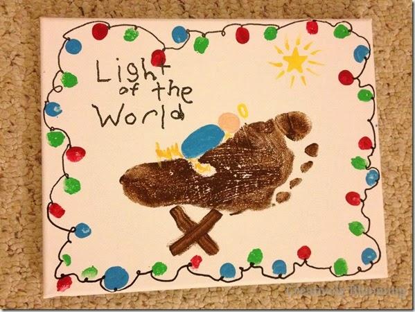 DIY Christmas gift ideas - footprint art