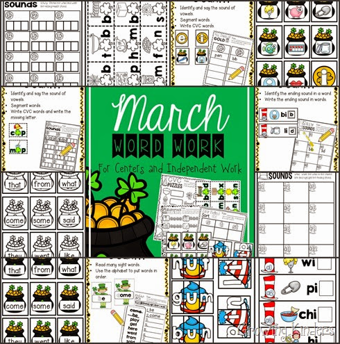 March word work 2
