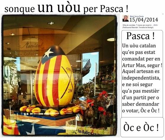 sonque un uòu per Pasca 2014 en Catalonha