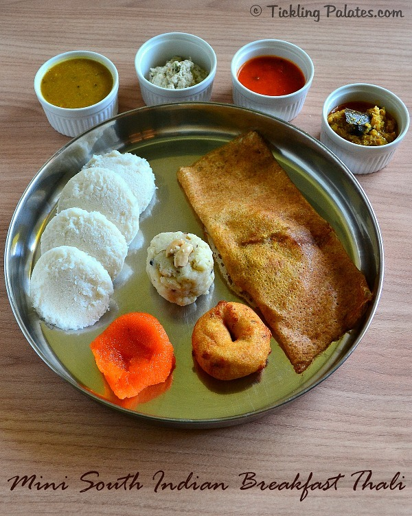 South indian breakfast thali healthy tiffin recipes tickling palates indian vegetarian breakfast recipes forumfinder Images