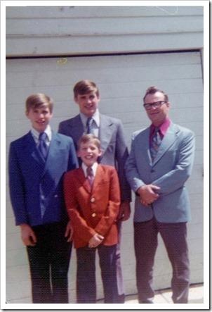 Dad & sons 1974