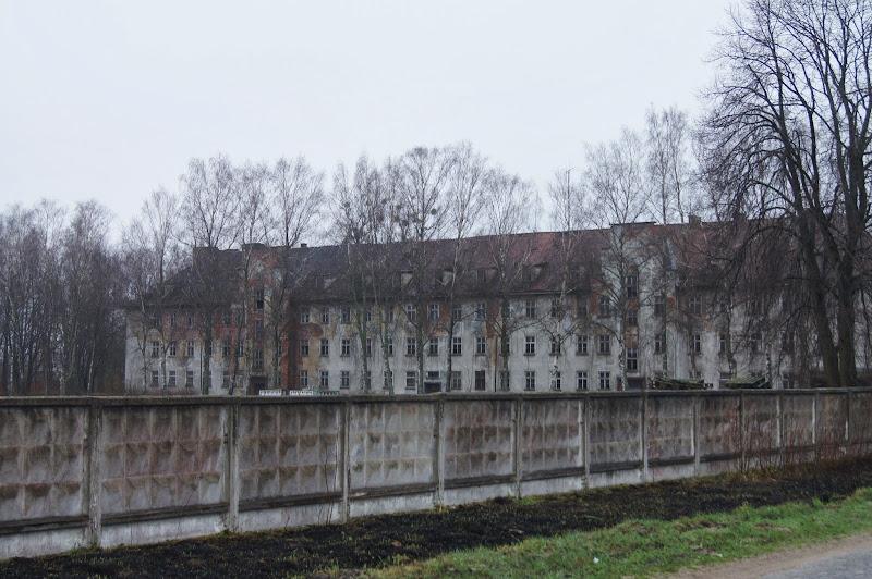 Blick auf die Kasernen