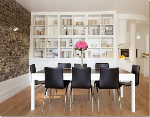 displaying-books-dining-room