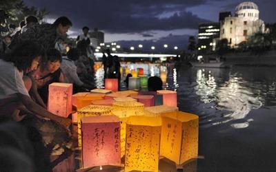 Hiroshima lanternas de papel