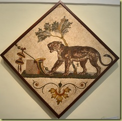 Panther with Dinonysian symbol