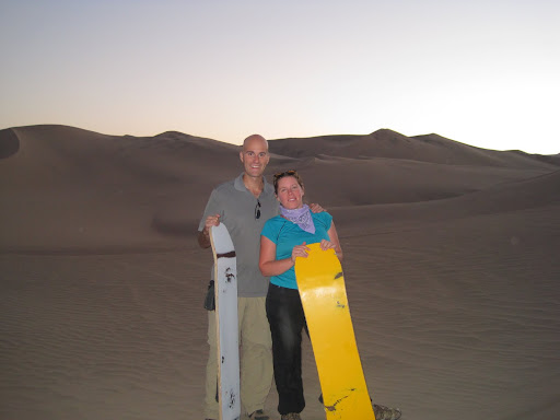 Our trusty sandboards