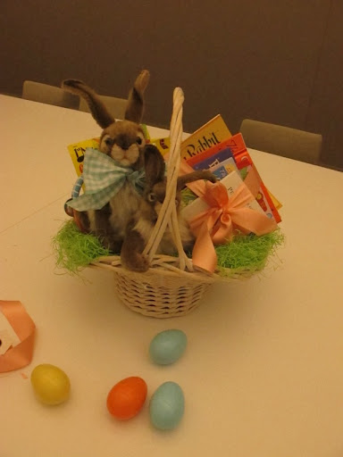 This rabbit-themed basket is complete.