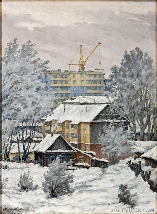 Nikolai Alekseevich Fedorov - Old Houses and New Apartments 1980
