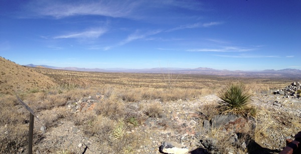 A view from a highpoint along the Kartchner Caverns Foothills Loop