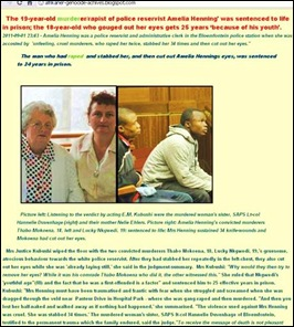 HENNING AMELIA murdered family Duvenhage Hannie_Nelie Ehlers_sister and mom