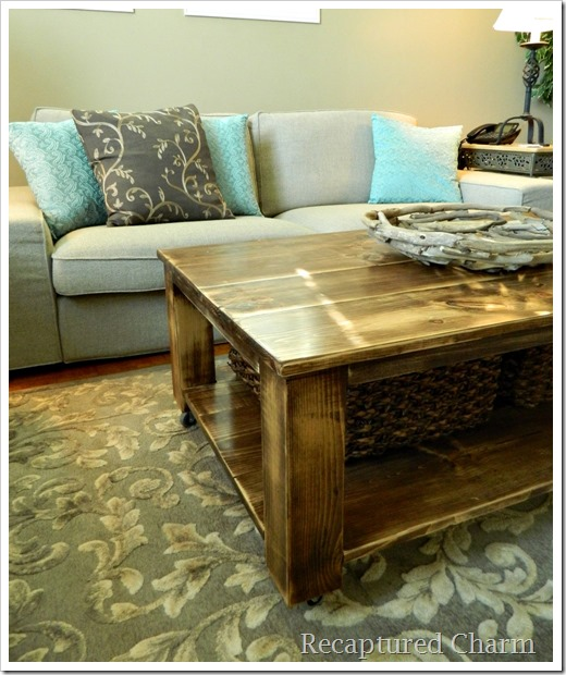 Recaptured charm do it yourself rustic coffee table Do it yourself coffee table