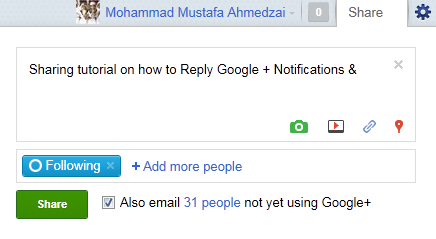 Share Posts on Gmail