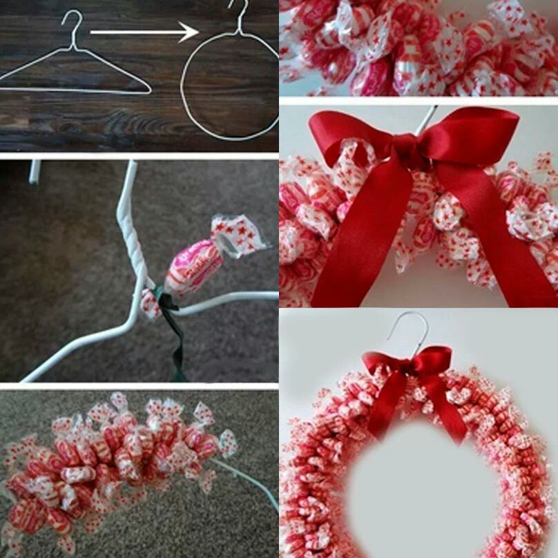 Hobbies y pasatiempos una corona navide a de dulces for Como hacer decoraciones navidenas