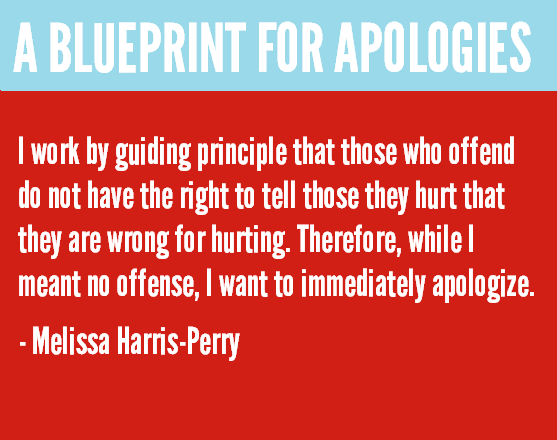 A blueprint for apologies