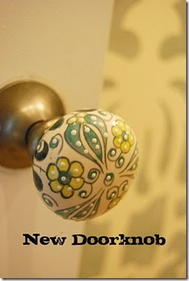 doorknob from laundry room
