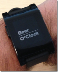 Pebble Time: Beer O'Clock 