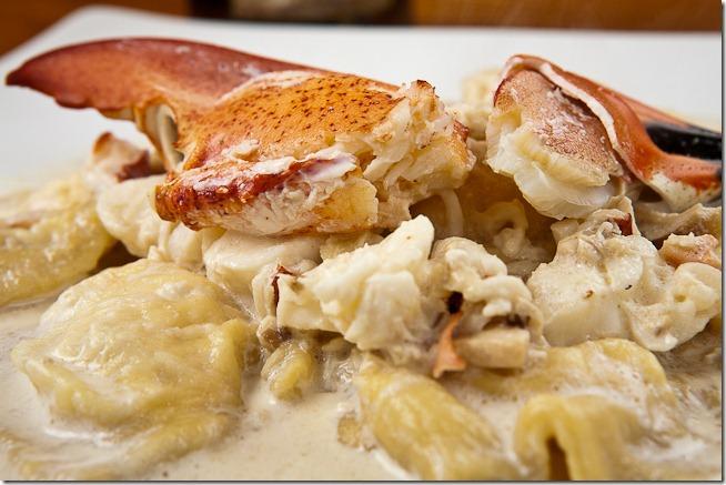 Lobster Ravioli with Truffle Mushroom Cream Sauce-1