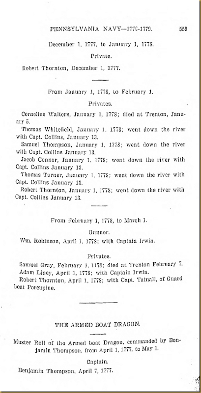 Pennyslvania Archives Series 5 Volumne I Muster Rolls of the Pennsylvania Navy 1776-1779  page 559
