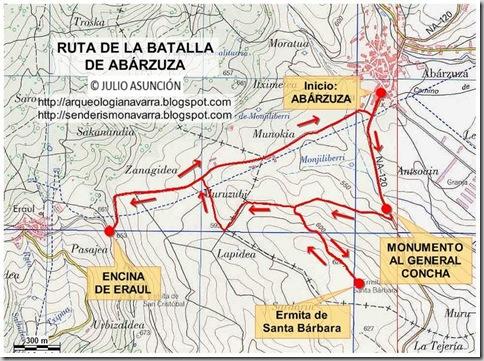 Mapa ruta Batalla Abárzuza