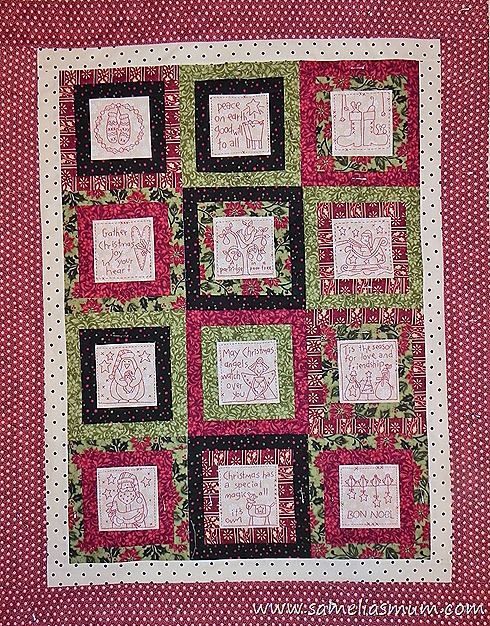 Tis The Season Quilt Top