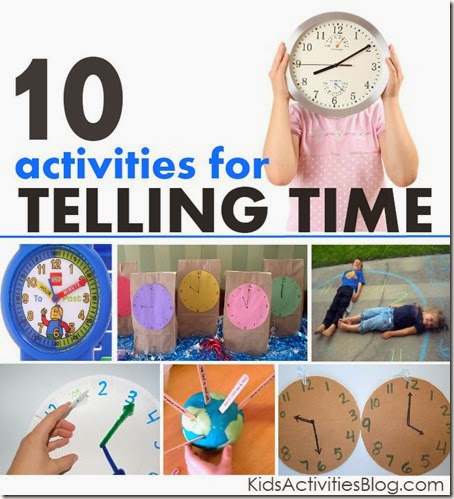 Clock Activities for kids - Here are 10 really fun, hands on kids activities for teaching kids how to tell time! Great for preschool, kindergarten, 1st grade, 2nd, grade, and even 3rd grade kids!
