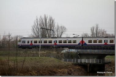 アントワープ行きの電車