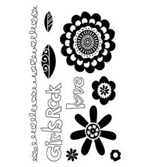 Girls Rock stamp set C1538