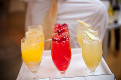 Fruity cocktails served to guests during the party.