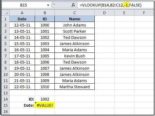 Exceluser Negative Vlookup Return The Value To Left Of. Worksheet. Application Worksheetfunction Vlookup Iferror At Mspartners.co