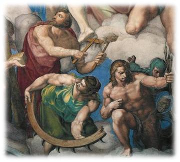 Miguel Angel, Juicio Final. Detalle de santa Catalina.