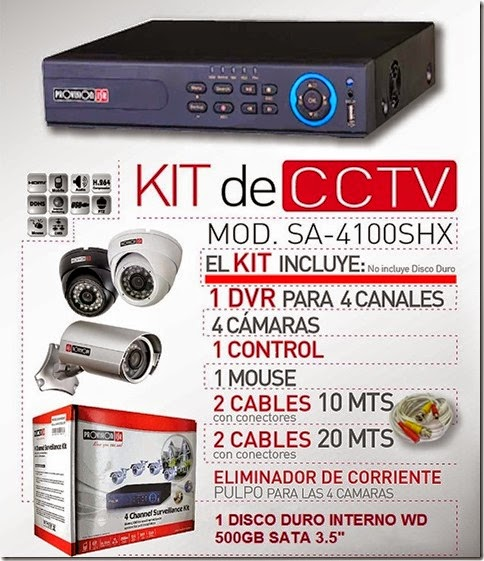DVR 4CANALES PROVISION