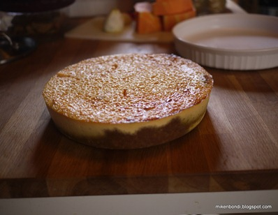 Cheesecake citrouille céleste