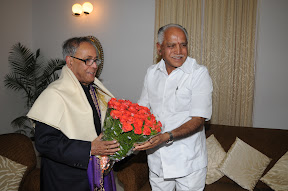 With Central Finance Minister Sri Pranab Mukherjee