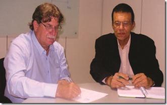 Jadir Péla candidato à Presidência do Crea-ES com Dario Almeida, Secretário Geral da Atecnólogos