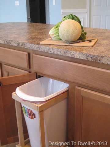 Designed To Dwell: DIY Pull-Out Trash Cans & Food Prep Area