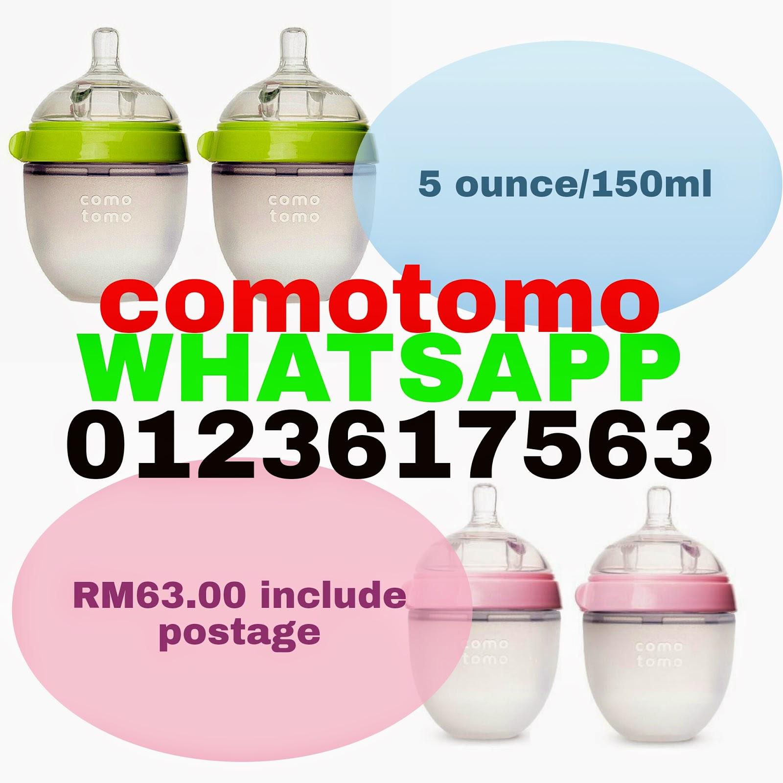 Botol Comotomo Malaysia 150 Ml Single Pack Pink Whatsapp 0123617563