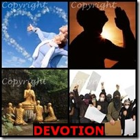 DEVOTION- 4 Pics 1 Word Answers 3 Letters