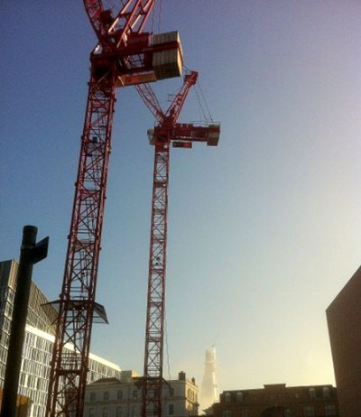 Cranes over London