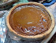 pumpkin pie, homemade crust