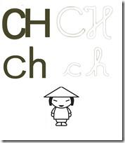 letra CH a 1
