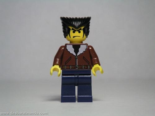 logan X-men super heróis de lego desbaratinando